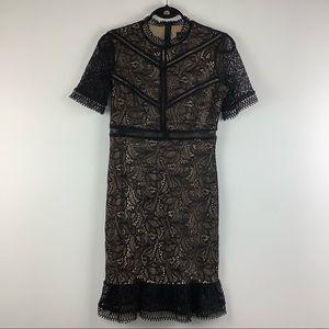 NWT Bardot Theodora Lace Dress in Black